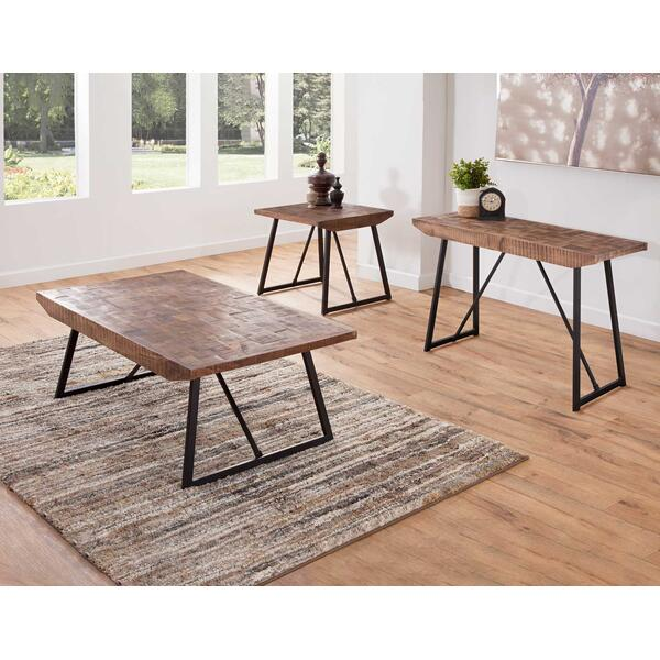 Walden Parquet 3-Piece Occasional Set (Cocktail & 2 End Tables)