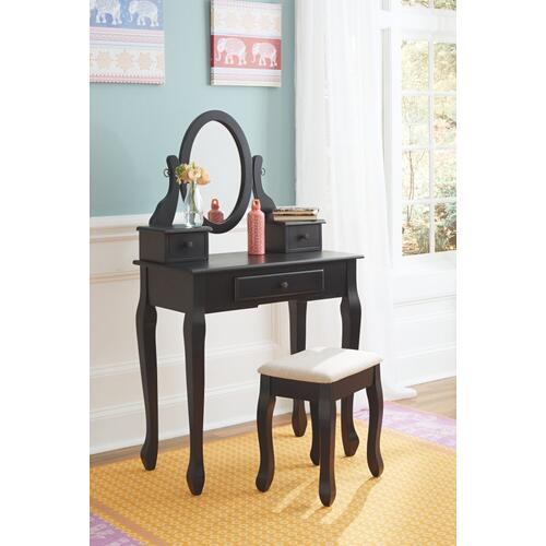 Huey Vineyard Vanity and Mirror With Stool
