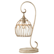 Distressed Ivory Scroll Table Lamp with Open Work Shade with Bulb. 60W Max.(163225) (2 pc. assortment)