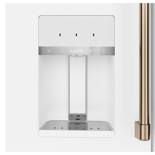Café ™ ENERGY STAR ® 27.8 Cu. Ft. 4-Door French-Door Refrigerator Matte White