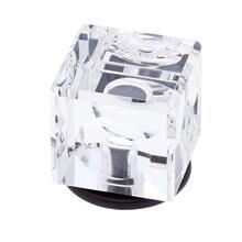 Oil Rubbed Bronze 30 mm Square Crystal Knob