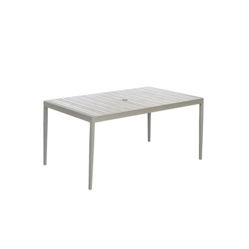 "Sofia 65"" Rectangular Dining Table w/ umbrella hole"