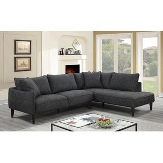 Asher Charcoal Sectional Right