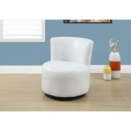 Gallery - JUVENILE CHAIR - SWIVEL / WHITE LEATHER-LOOK