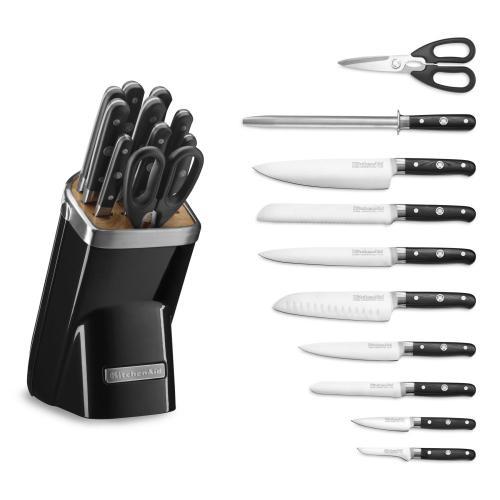 KitchenAid - 11pc Professional Series Cutlery Set - Onyx Black
