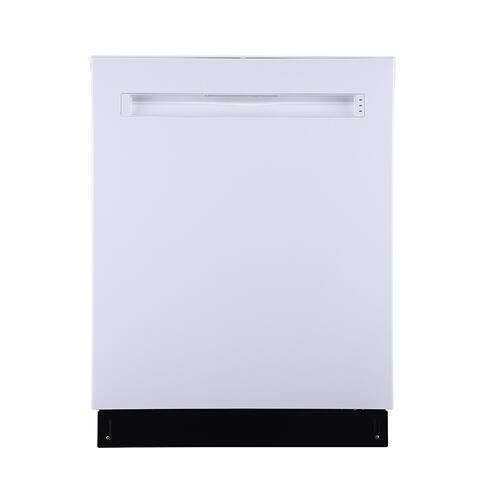"GE Profile 24"" Built-In Top Control Dishwasher with Stainless Steel Tall Tub White - PBP665SGPWW"