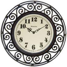 """12"""" Filigree Rubbed Bronze Finish Clock"""