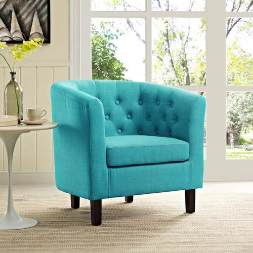 Modway - Prospect Upholstered Fabric Armchair in Pure Water