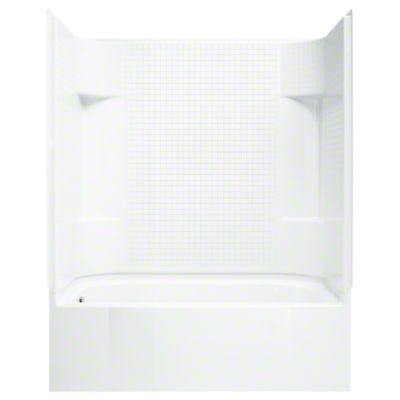 "Accord®, Series 7114, 60"" x 30"" x 74"" AFD Tile Bath/Shower - Left-hand Drain - White"