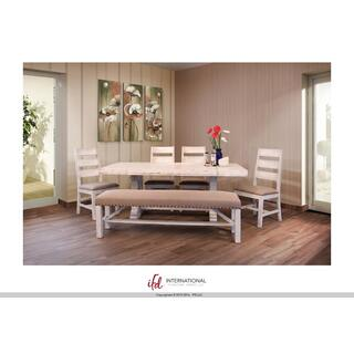 See Details - Wooden Table top & base - White finish*