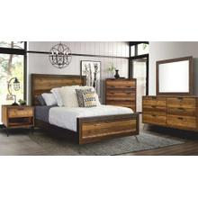 Cruz Bedroom - Queen Bed, Dresser, Mirror, Chest, and Night Stand