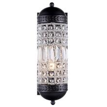 Olivia 1 light Dark Bronze Wall Sconce Clear Royal Cut Crystal