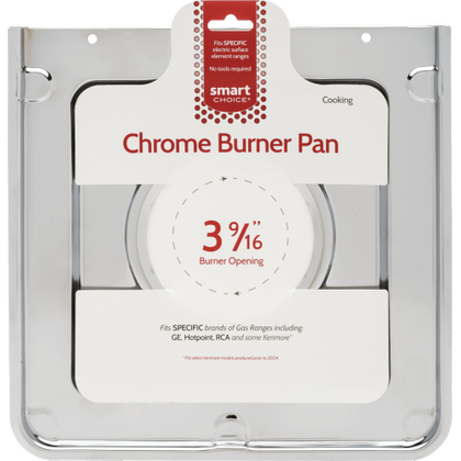 See Details - Smart Choice Square Chrome Burner Pan, Fits Specific