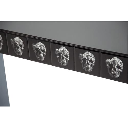 Montreal Mirrored Console Table w/Skull Decor