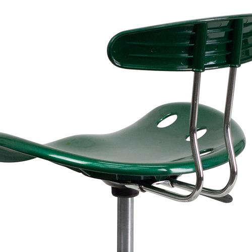 Flash Furniture - Vibrant Green and Chrome Swivel Task Office Chair with Tractor Seat