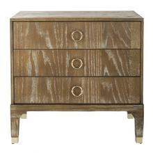 See Details - Lorna 3 Drawer Contemporary Night Stand - Rustic Oak