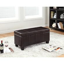 7075 BROWN PU Storage Bench