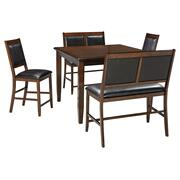Meredy Counter Height Dining Room Table and Bar Stools (set of 5) Product Image