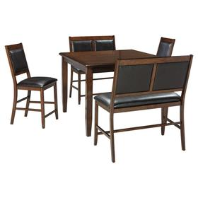 Meredy Counter Height Dining Table and Bar Stools (set of 5)