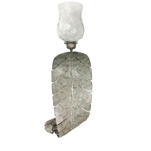 See Details - Large Palmetto Palm Leaf Wall Sconce