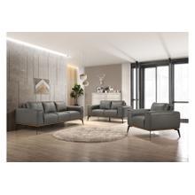 Pietro Gray Leather Sofa, Loveseat & Chair, L2110