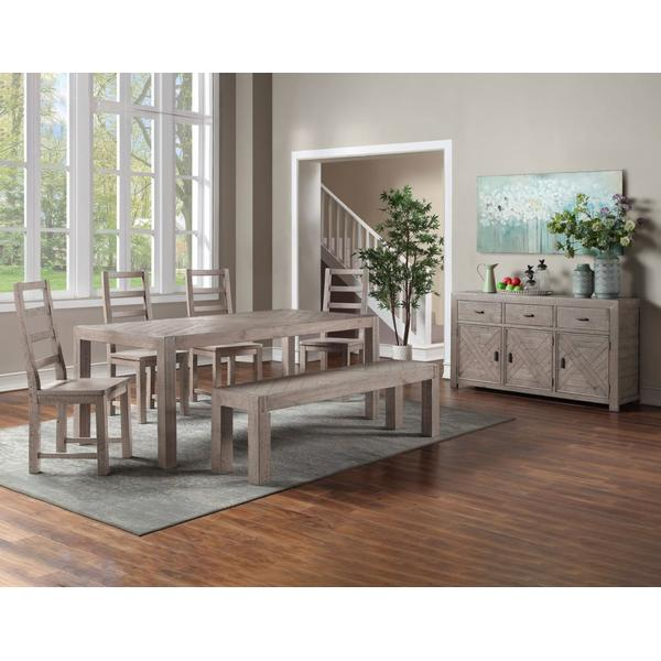 See Details - Auckland 5-Piece Reclaimed Dining Set (Table & 4 Side Chairs)