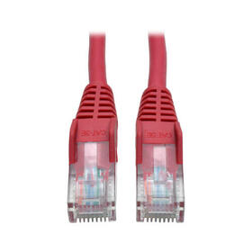 Cat5e 350 MHz Snagless Molded (UTP) Ethernet Cable (RJ45 M/M) - Red, 10 ft.
