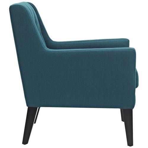 Earnest Upholstered Fabric Armchair in Azure