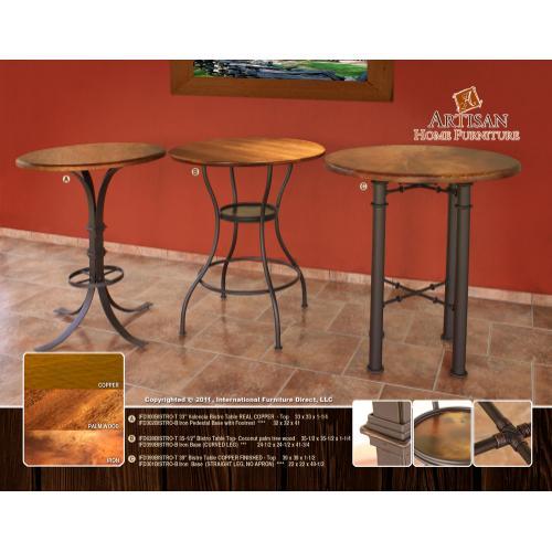 Artisan Home Furniture - Bistro Top Coconut Palm Tree