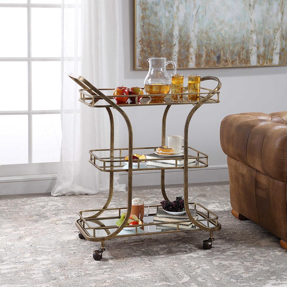 See Details - Stassi Serving Cart