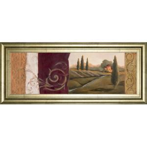 "Classy Art - ""Tuscan Scene I Framed Print Wall Art"
