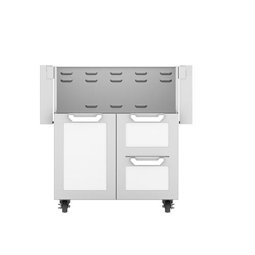 """Hestan - 30"""" Hestan Outdoor Tower Cart with Door/Drawer Combo - GCR Series - Froth"""