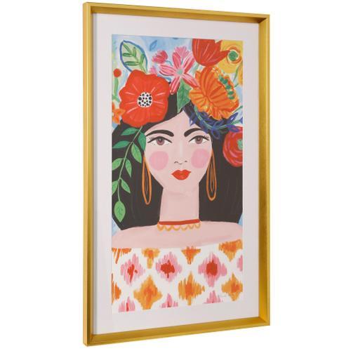 Style Craft - BOHO GIRL II  36in ht X 22in w  Framed Print Under Glass