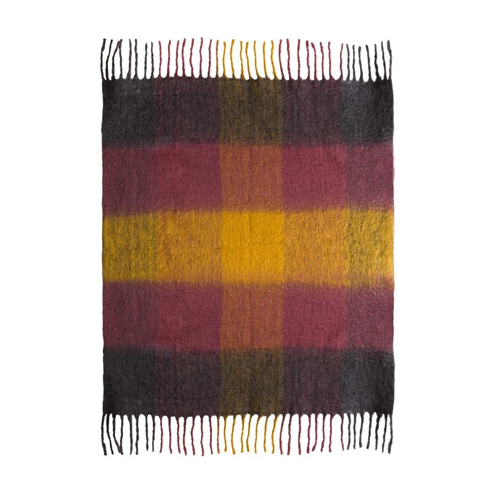 Afrino Wool Colored Throw