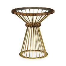 Camden Round Brass Side Table