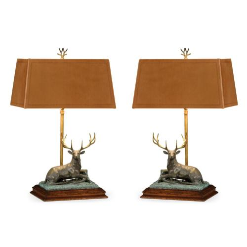 A Set of Deer Table Lamps