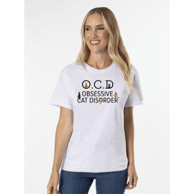 OCD Obsessive Cat Disorder T-Shirt - XL