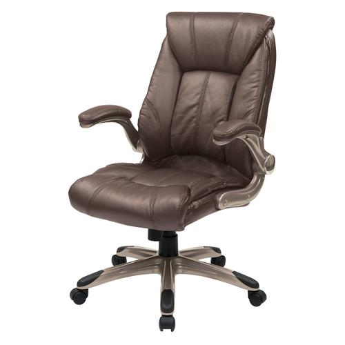 Office Star - Faux Leather Mid Back Managers Chair
