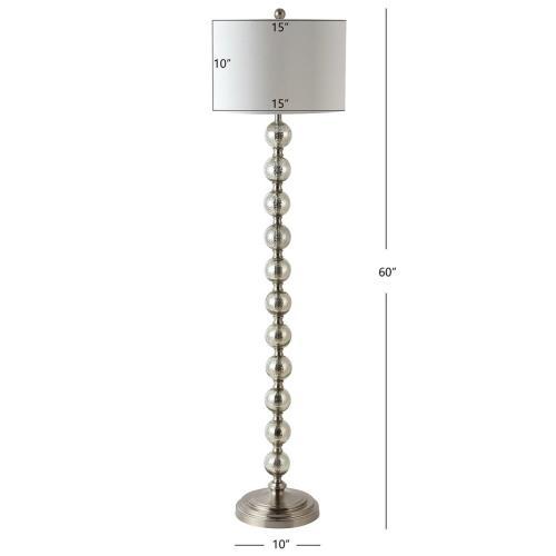 Cace Floor Lamp - Nickel / Ivory