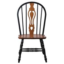 """Product Image - Keyhole Dining Chair - Antique Black with Cherry Seat (41"""")"""