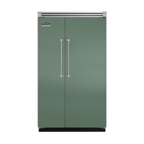 "Viking - Mint Julep 48"" Quiet Cool™ Side-by-Side Refrigerator/Freezer - VISB Tru-Flush™ (48"" wide)"
