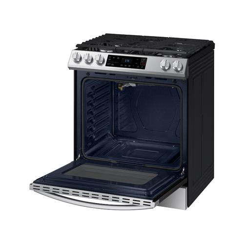 6.0 cu. ft. Front Control Slide-in Gas Range with Wi-Fi in Stainless Steel