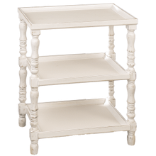 Three Tier Rectangle White Side Table