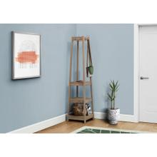 "COAT RACK - 72""H / DARK TAUPE CORNER WITH 3 SHELVES"