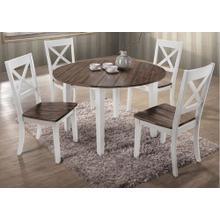 5057 A La Carte White 5-Piece Drop-Leaf Dining Set