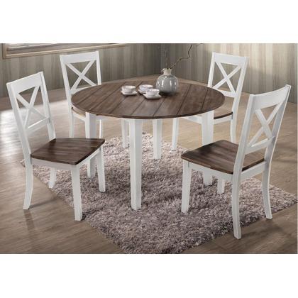5057 A La Carte White 5-Piece Drop-Leaf Dining Set