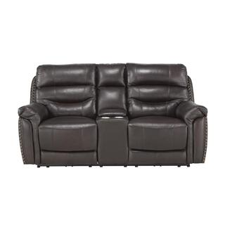 See Details - Power Double Reclining Love Seat with Center Console, Power Headrests and USB Ports