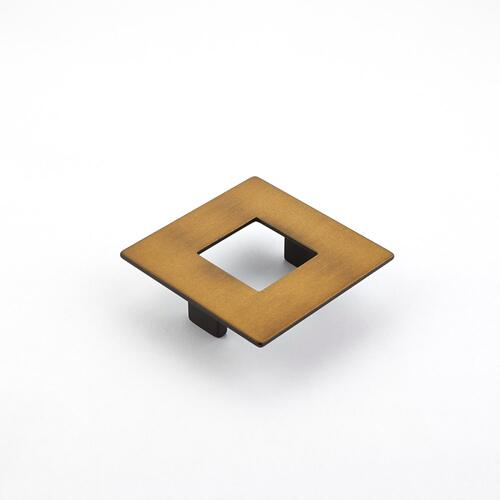 Finestrino, Pull, Square, Burnished Bronze, 64 mm cc