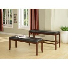 Espresso Finish PU Counter Height Dining Bench