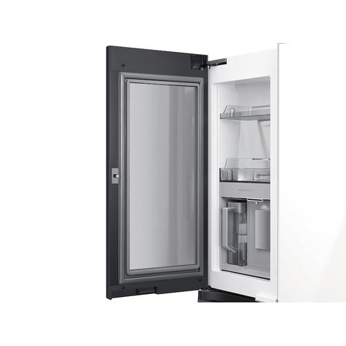 Gallery - 29 cu. ft. Smart BESPOKE 4-Door Flex™ Refrigerator with Customizable Panel Colors in White Glass